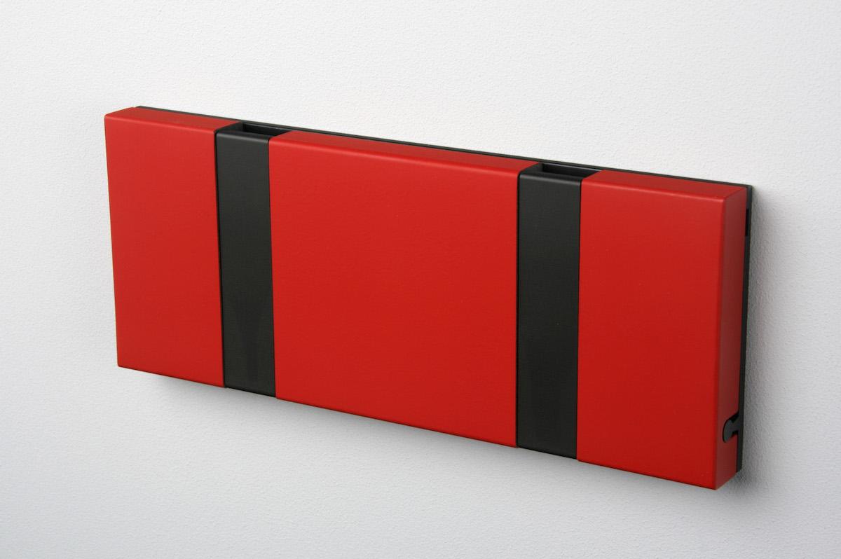 Garderobenleiste mit 2 Haken (schwarz)