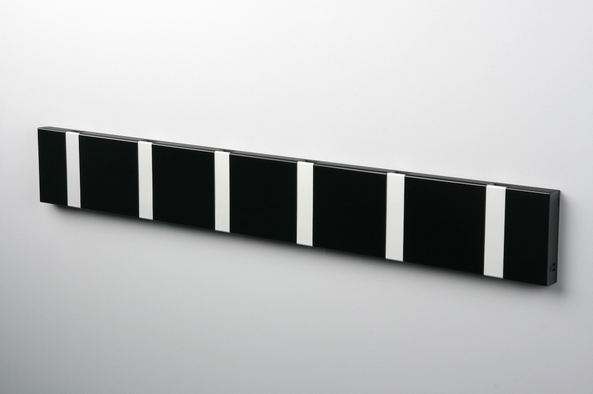 Garderobenleiste mit 6 Haken (grau)