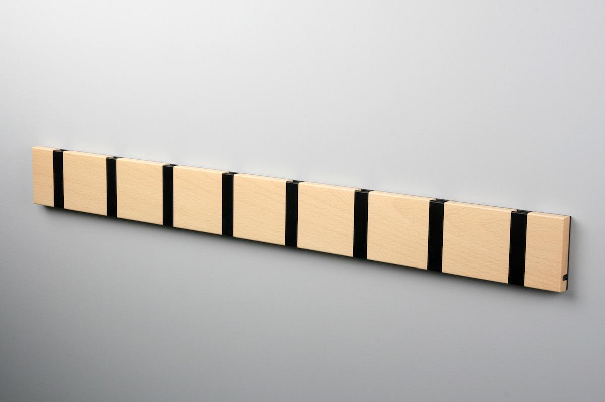 Garderobenleiste mit 8 Haken (schwarz)